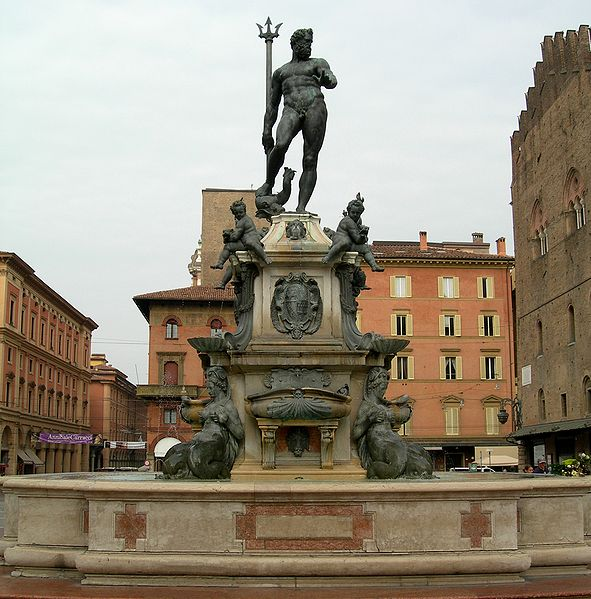 Italien | Bologna- Neptunus-fontnen (Fontana di Nettuno)